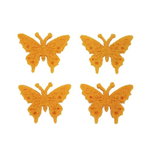 61215461 Бабочки из фетра оранжевый 10шт Glorex