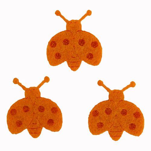 61215661 Божьи коровки из фетра оранжевый 10шт Glorex