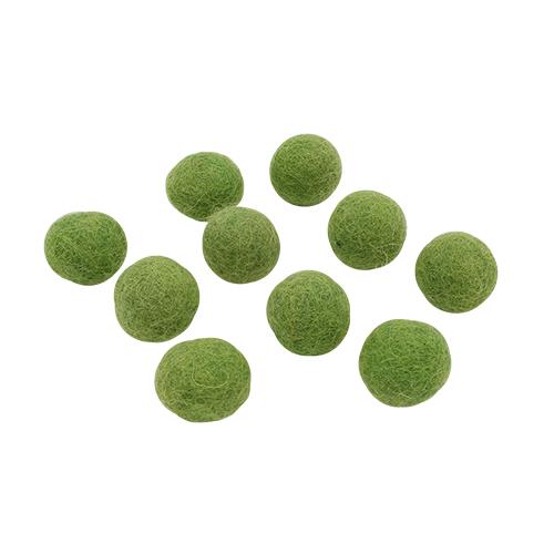 61212422 Шарик из фетра 10шт 1,5см зеленый Glorex