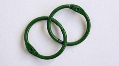 Кольца для альбомов, 2 шт зеленые 35 мм SCB 2504735