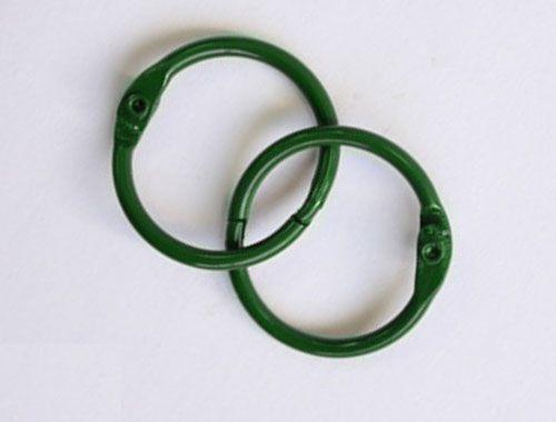 SCB 2504740 Кольца для альбомов, зеленые, 40 мм, упак./2 шт.