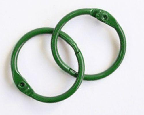 Кольца для альбомов, 2 шт зеленые 50 мм SCB 2504750