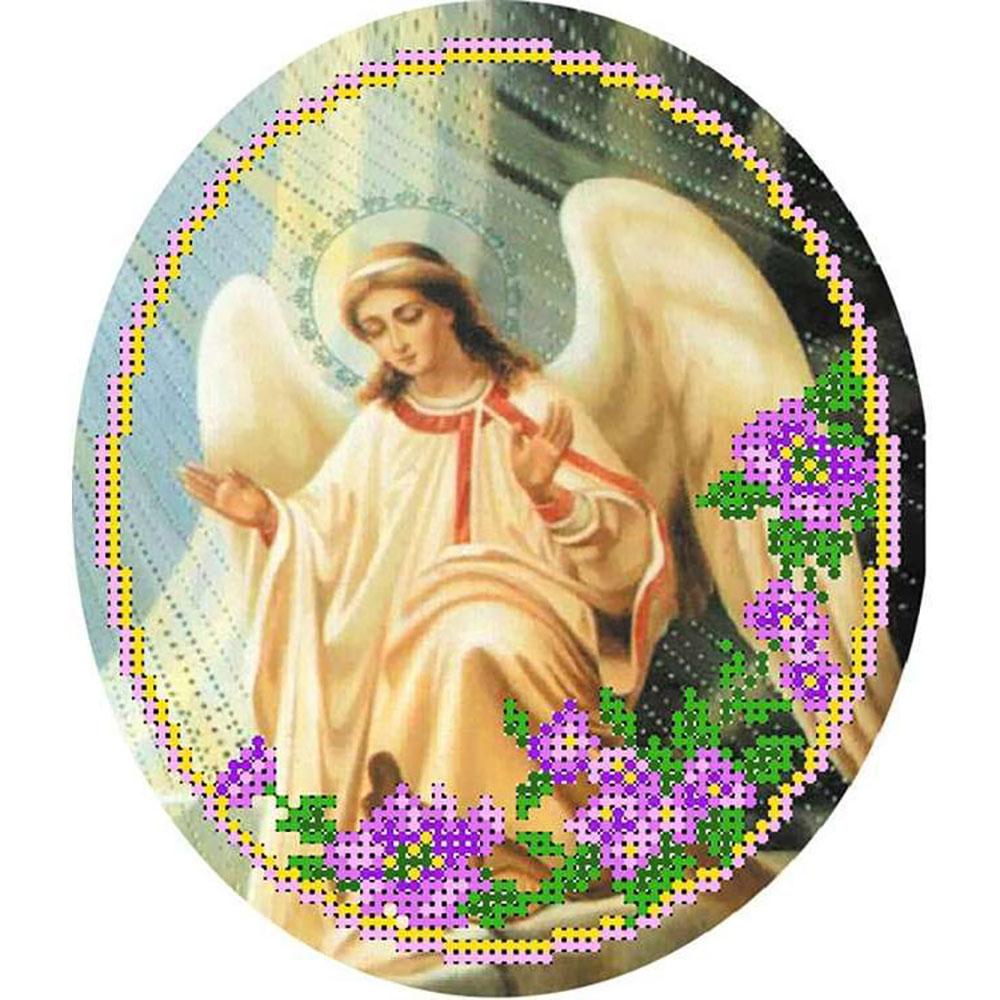 23/БП Набор для вышивания бисером и паспарту 'Матренин посад' 'Ангел 2', 27*24 см