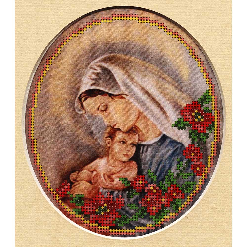 24/БП Набор для вышивания бисером и паспарту 'Матренин посад' 'Мать и дитя', 27*24 см