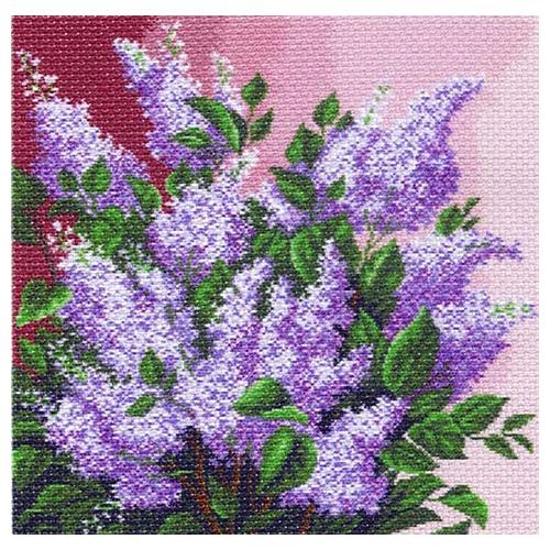 1196 Набор для вышивания подушка 'Матренин Посад' 'Сиреневое раздолье', 34*34 см