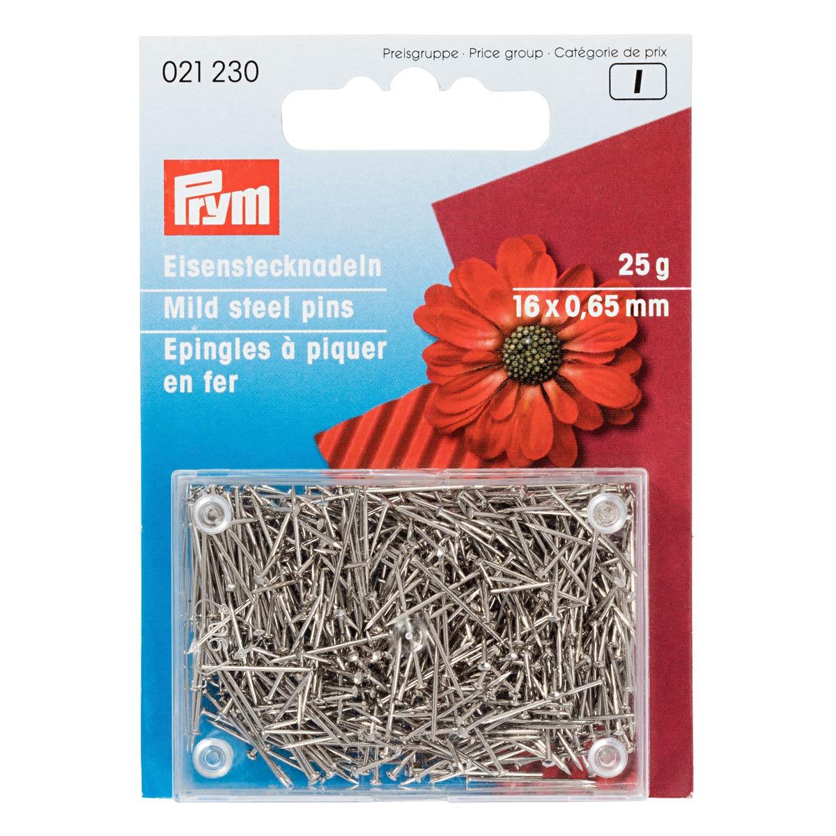 021230 Булавки железные, для флористики, декораций серебристый цв. 0,65 x 16 мм Prym