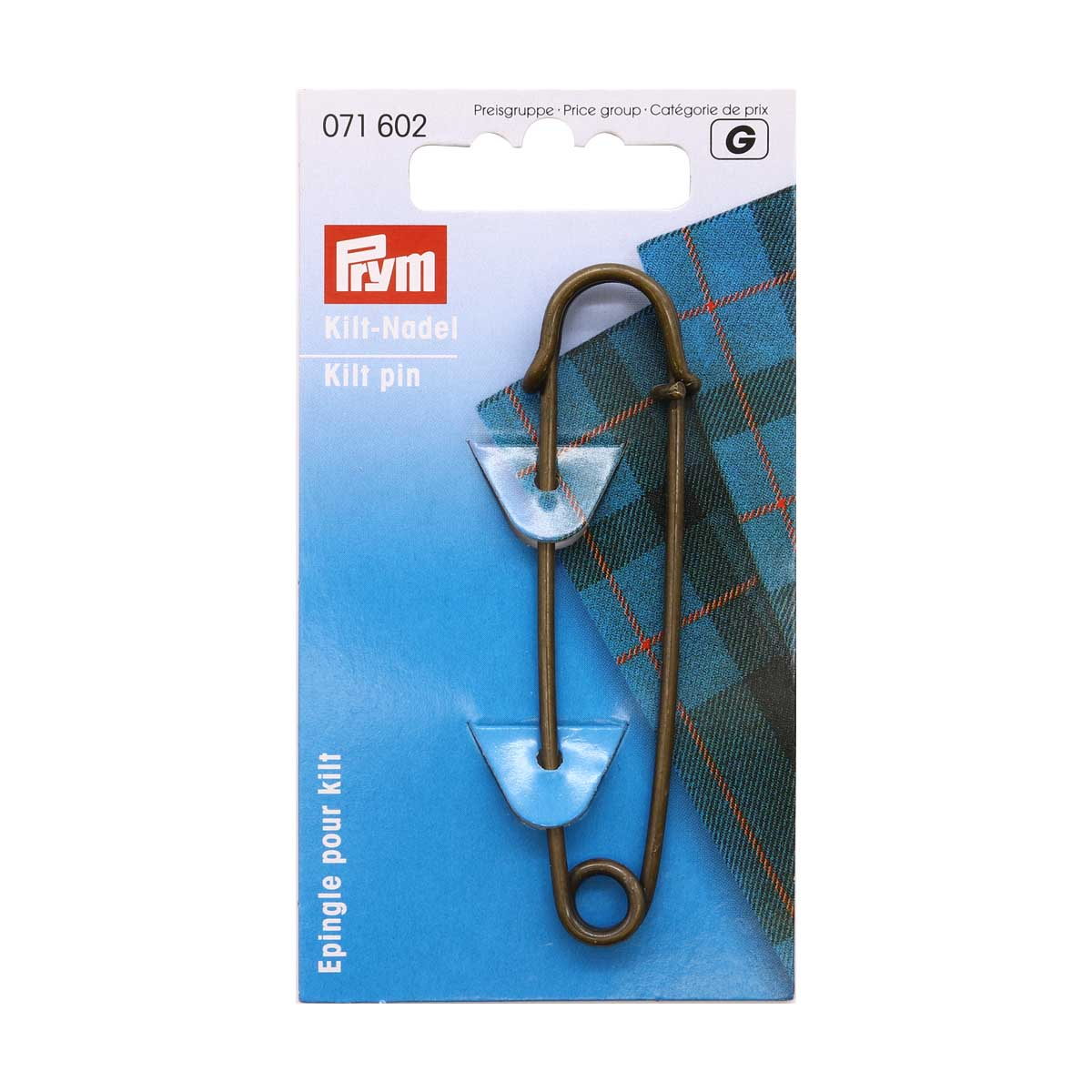 071602 Булавки для килта, латунь, 76 мм, бронзовые Prym