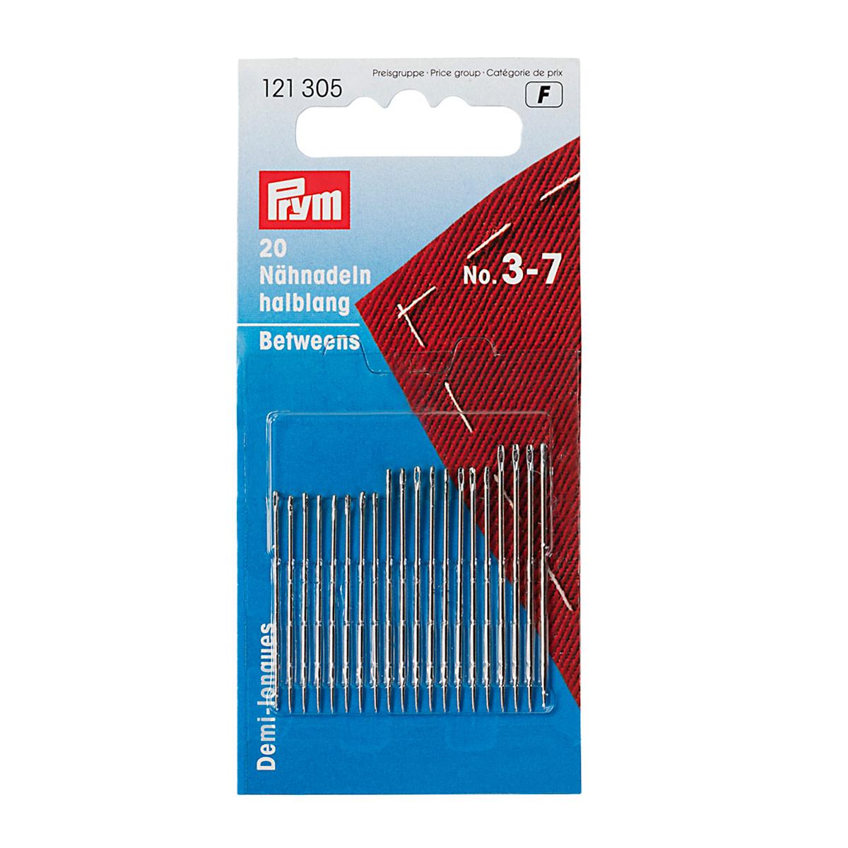 121305 Короткие иглы для шитья (сталь) 3-7 серебр.цв. Prym