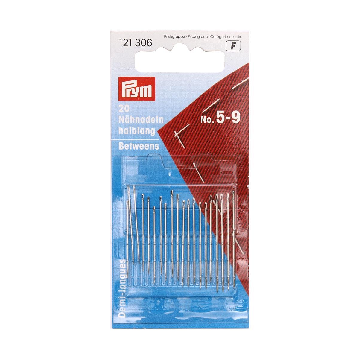 121306 Короткие иглы для шитья (сталь) 5-9 серебр.цв. Prym