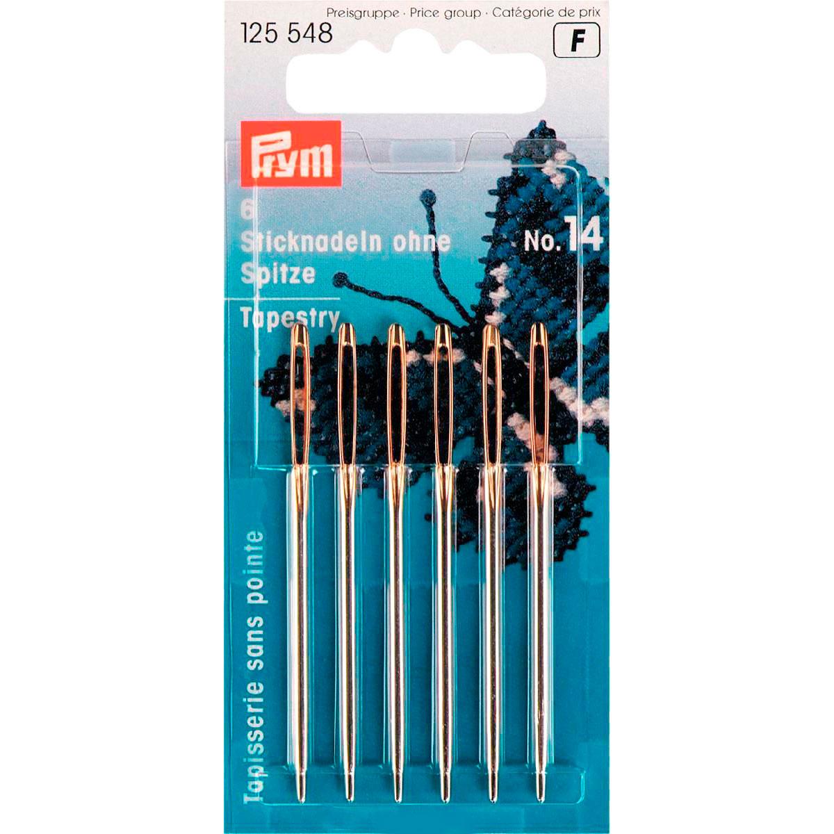 125548 Иглы для вышивания со скруглённым остриём (сталь) 14серебр.цв. 1,90*60мм Prym