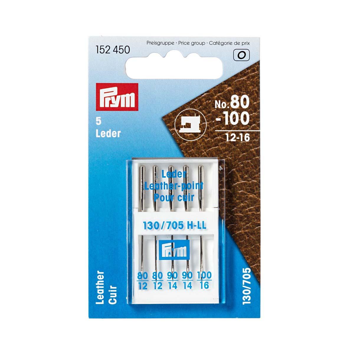 152450 Иглы для швейных машин для кожи № 80-100 Prym