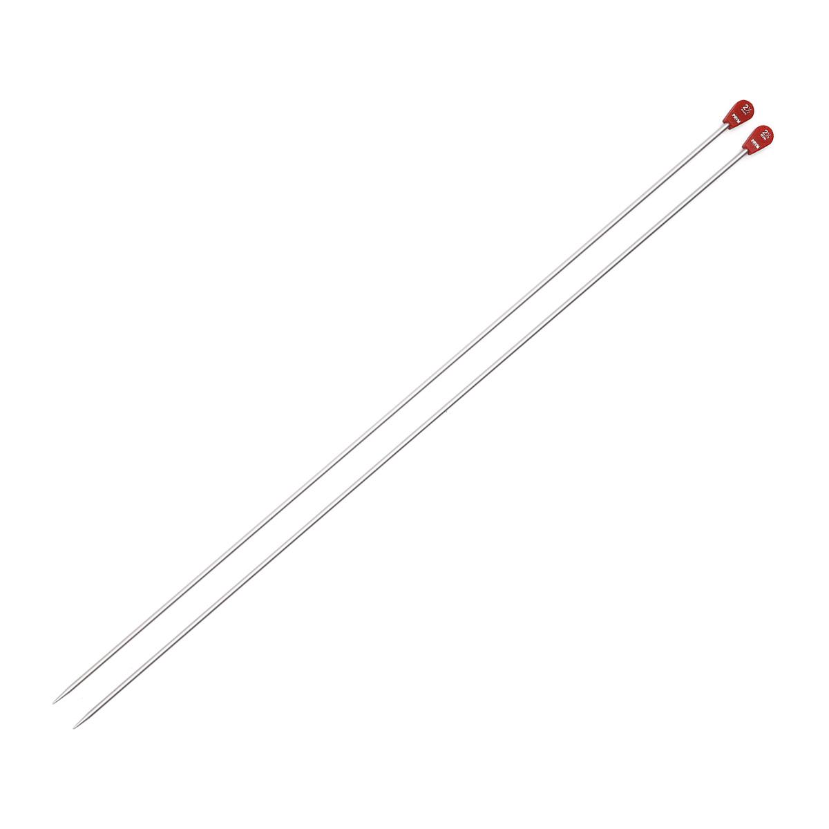 171305 Спицы прямые алюминиевые с наконечниками, серебристый, 2,5 мм*40 см, Prym