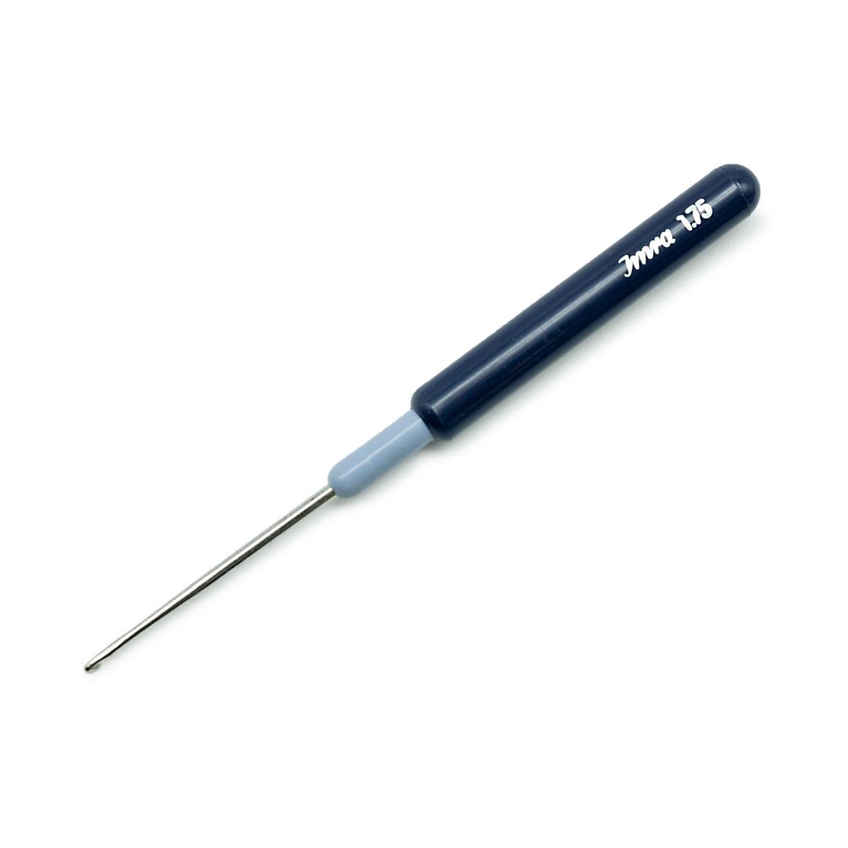 175317 Крючок для тонкой пряжи с пластиковой ручкой и колпачком, сталь, 1,75 мм, Prym