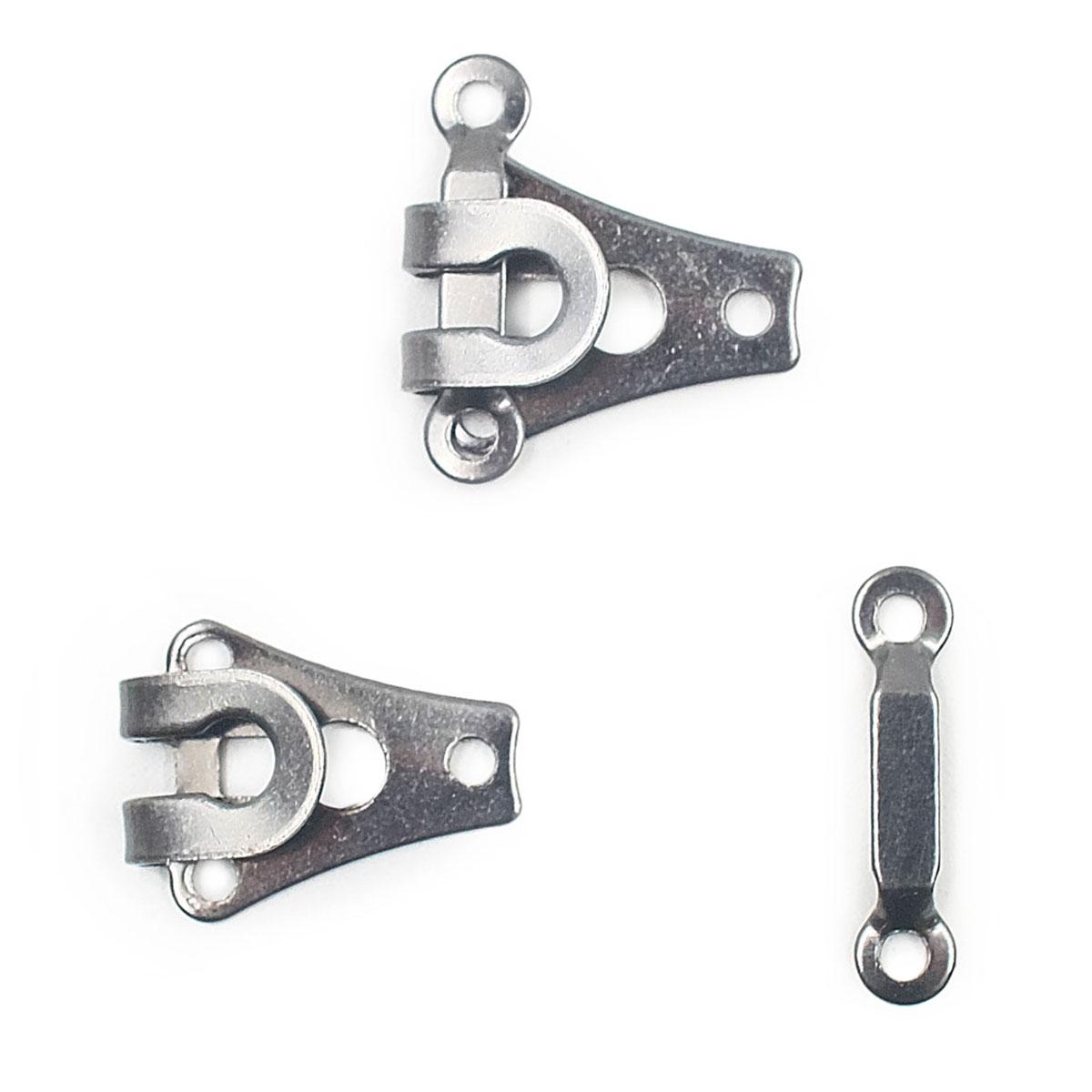 265223 Крючок для брюк и юбок с дугой (сталь) черный цв. 9 мм Prym