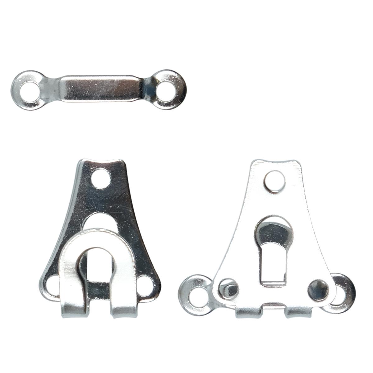 265227 Крючок для брюк и юбок с дугой (сталь) серебристый цв.9 мм Prym