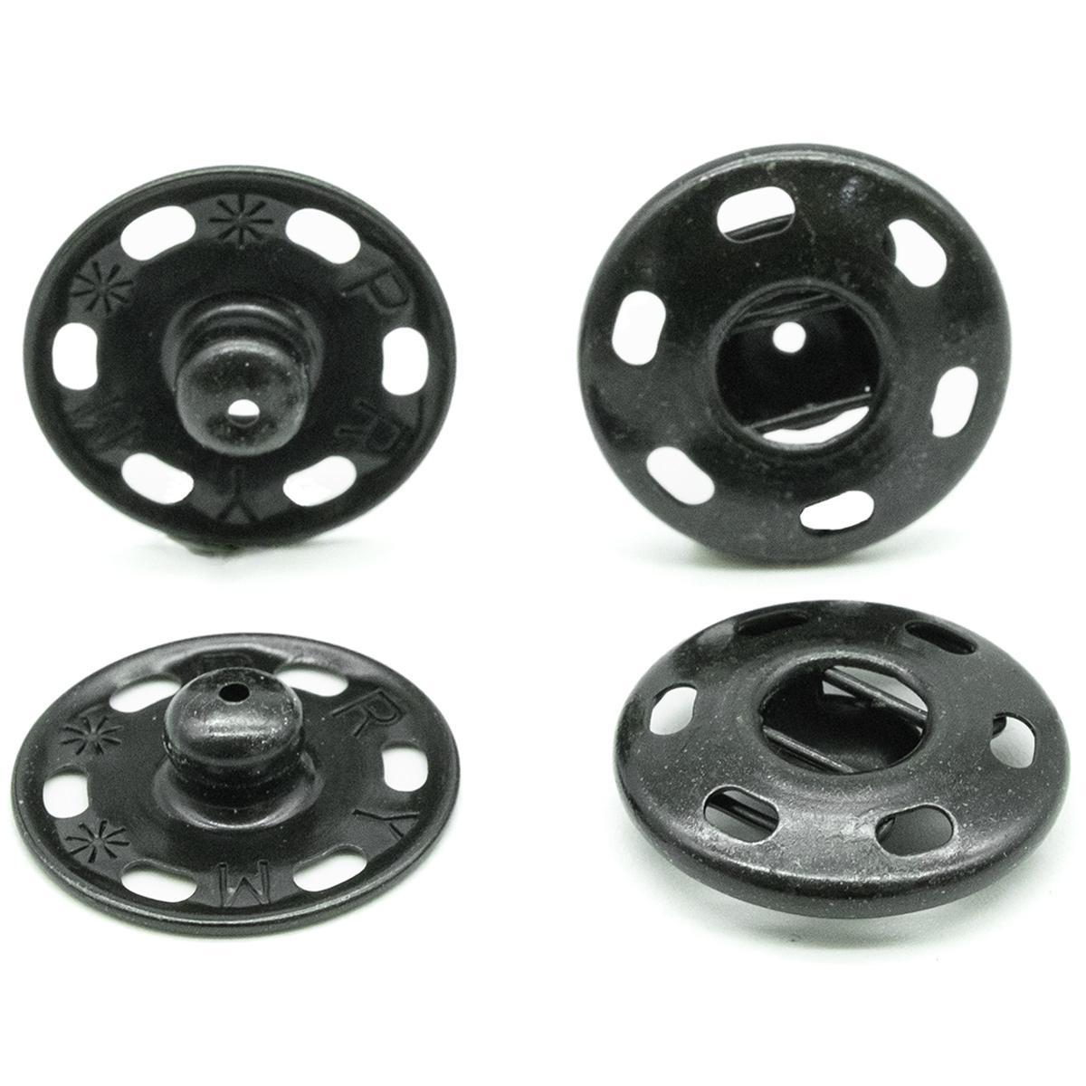 341137 Пришивные кнопки (латунь) черный цв 21 мм Prym