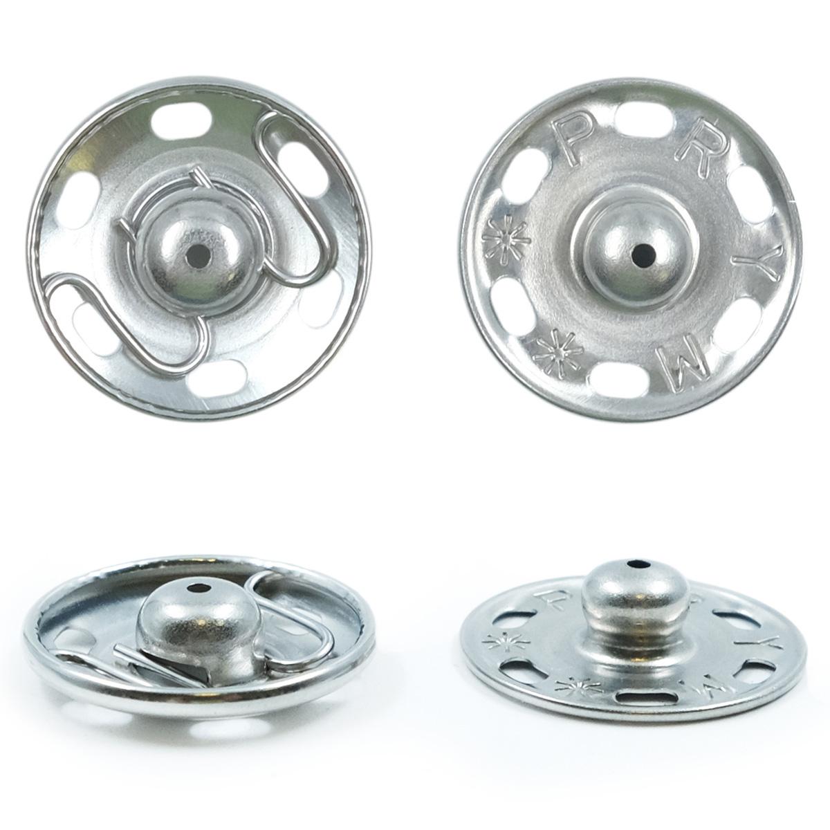 341252 Пришивные кнопки (латунь) серебристый цв. 21 мм Prym