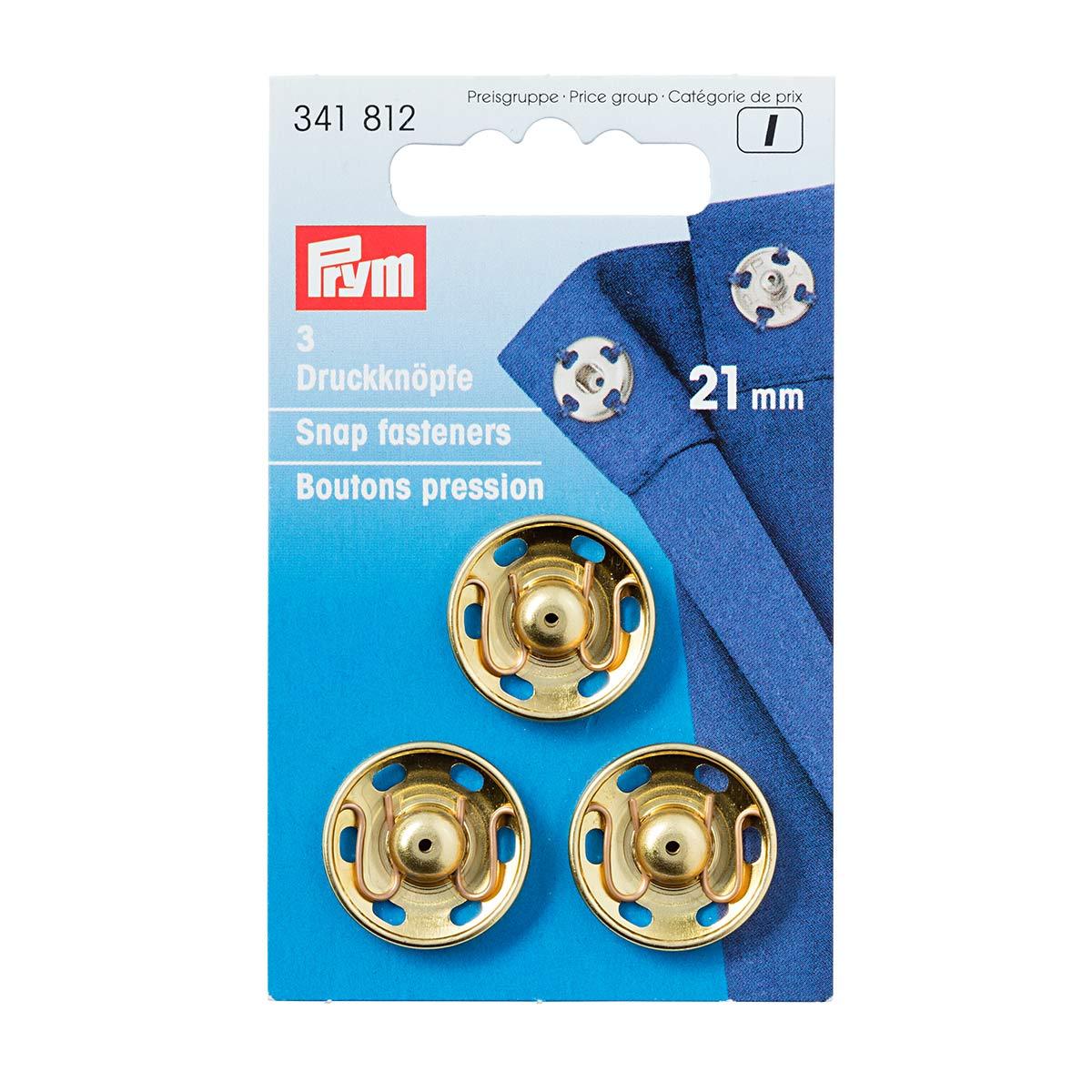 341812 Пришивные кнопки (латунь) золотистый цв. 21 мм Prym