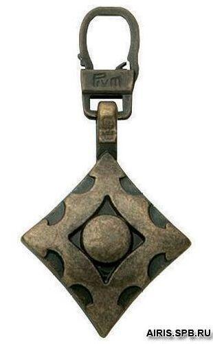 482309 Подвеска для молний, Орнамент цв. состаренной латуни Prym