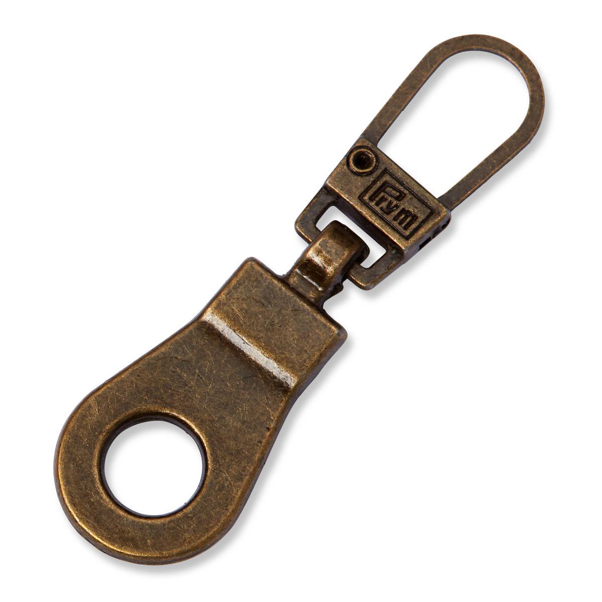 482411 Подвеска для молний, Люверс, металл, цв. состаренной латуни Prym