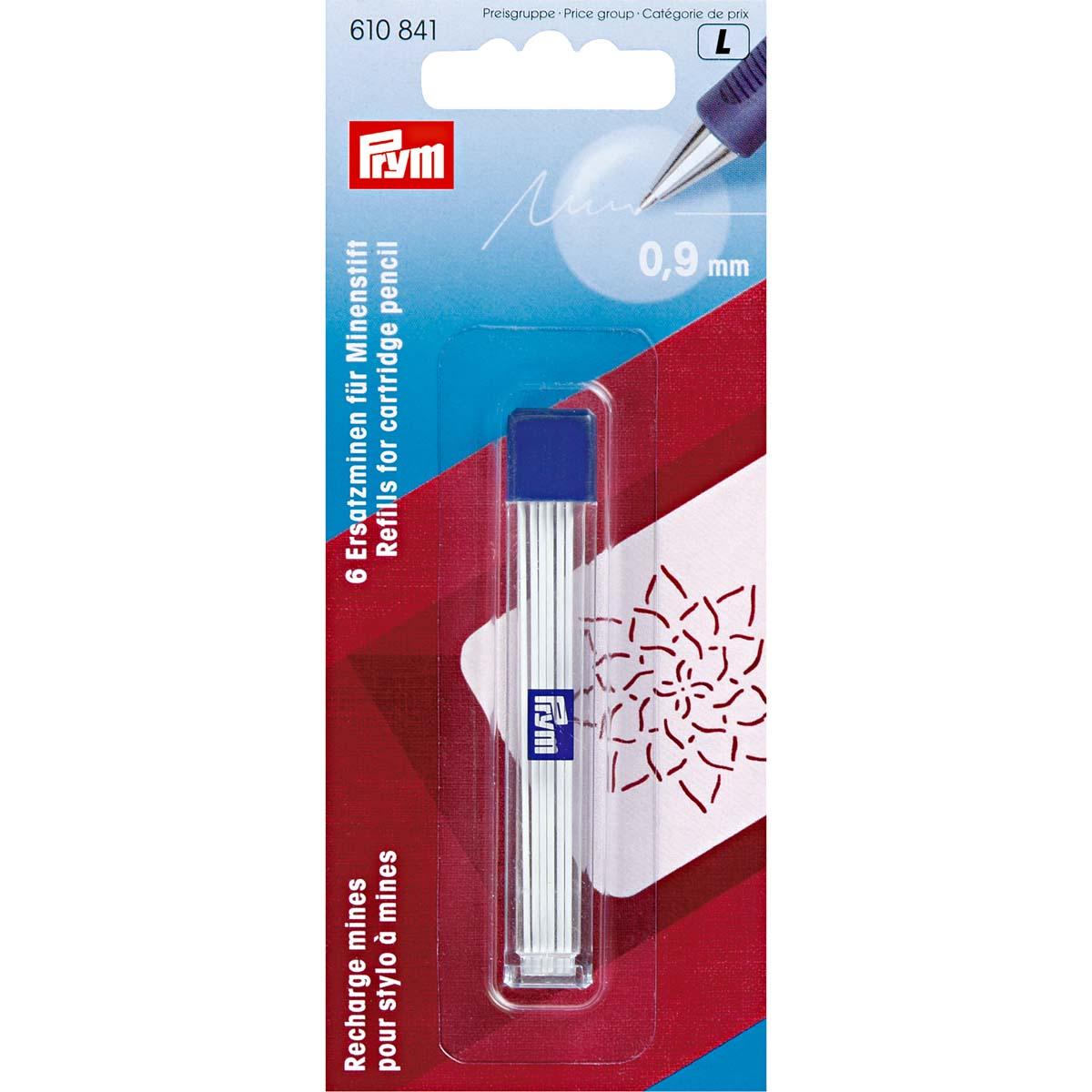610841 Запасные графиты для механического карандаша,O 0,9 мм, белый цв. Prym
