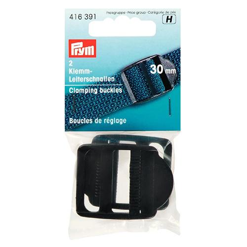 416391 Пряжка регулировочная с фиксатором, пластик, черный, 30 мм, Prym