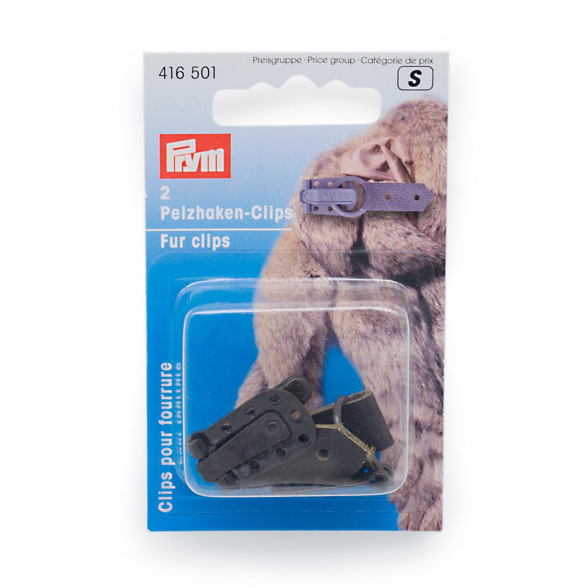 416501 Клипса с крючком для меховых изделий, коричневый, упак./2 шт.,Prym