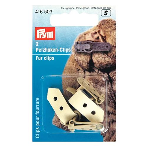 416503 Клипса с крючком для меховых изделий, бежевый, упак./2 шт., Prym