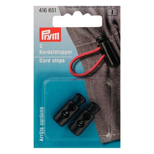 416651 Ограничители для шнура (резина) с 2-мя отверстиями, малый, черный цв. Prym
