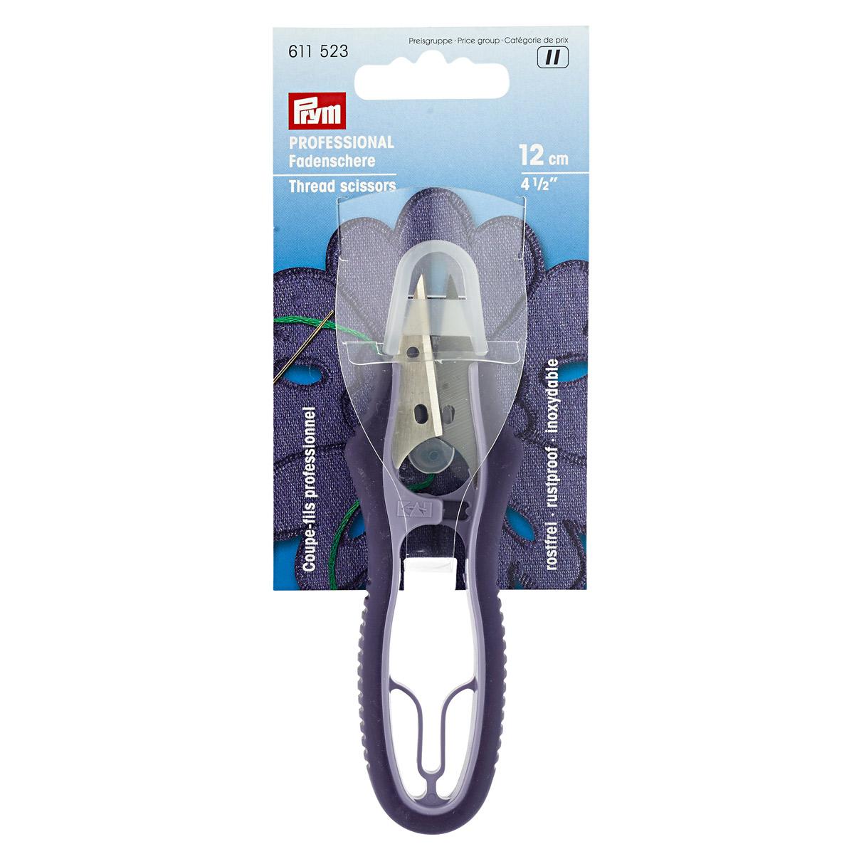 611523 Ножницы для подрезки ниток PROFESSIONAL 12см Prym