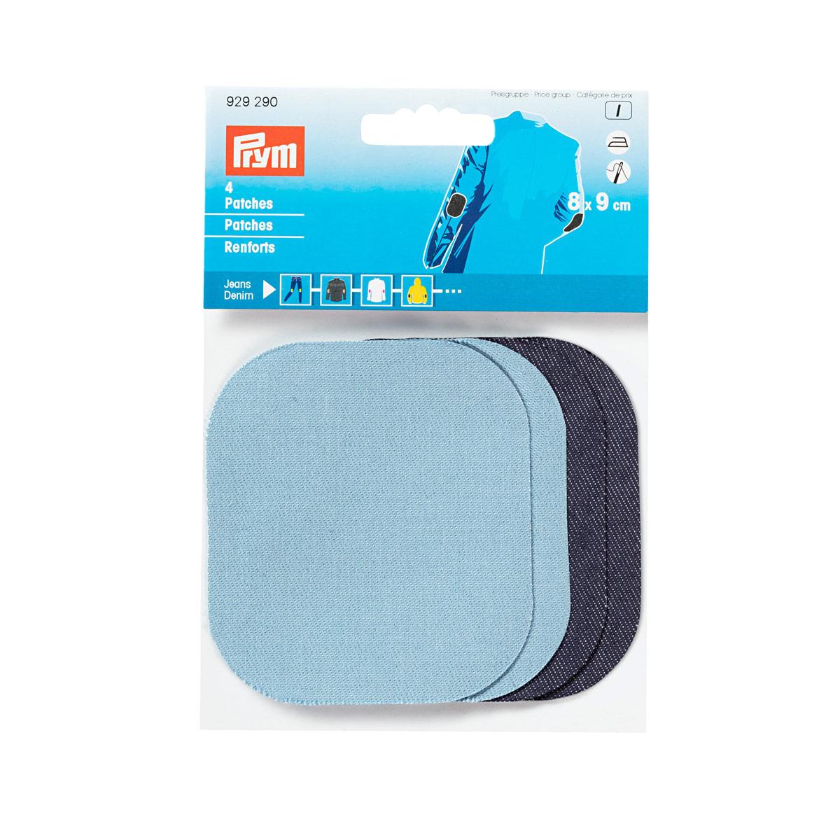 929290 Заплатка термоклеевая 9х8 см, голубой//темно-синий цв. Prym