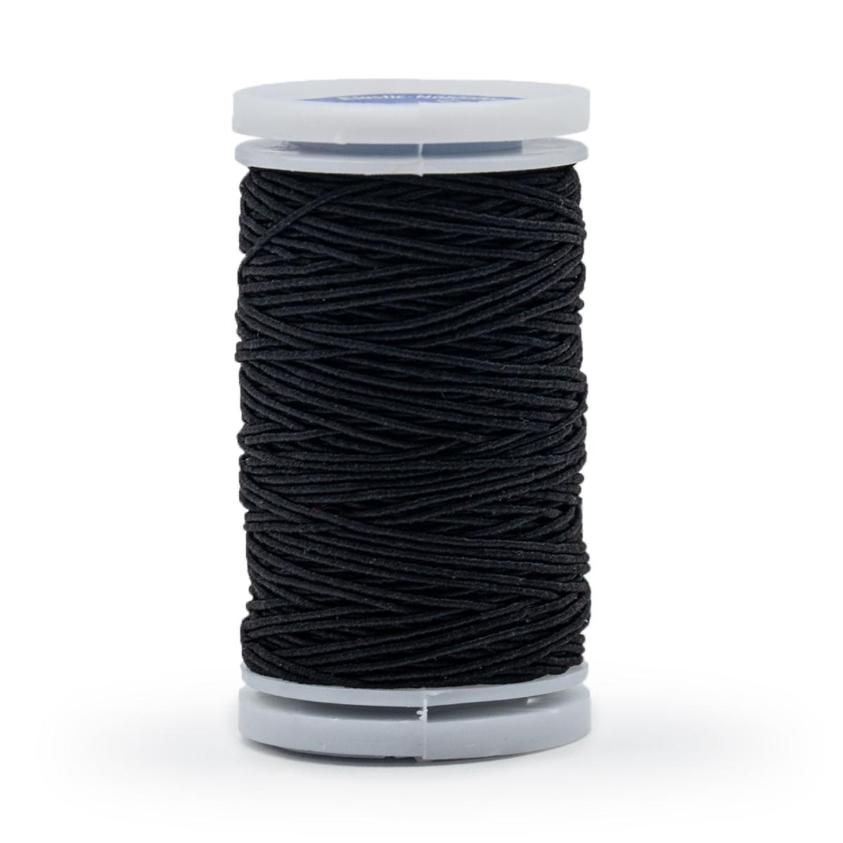 970010 Эластичная нить для шитья, 0,5 мм черный цв. Prym
