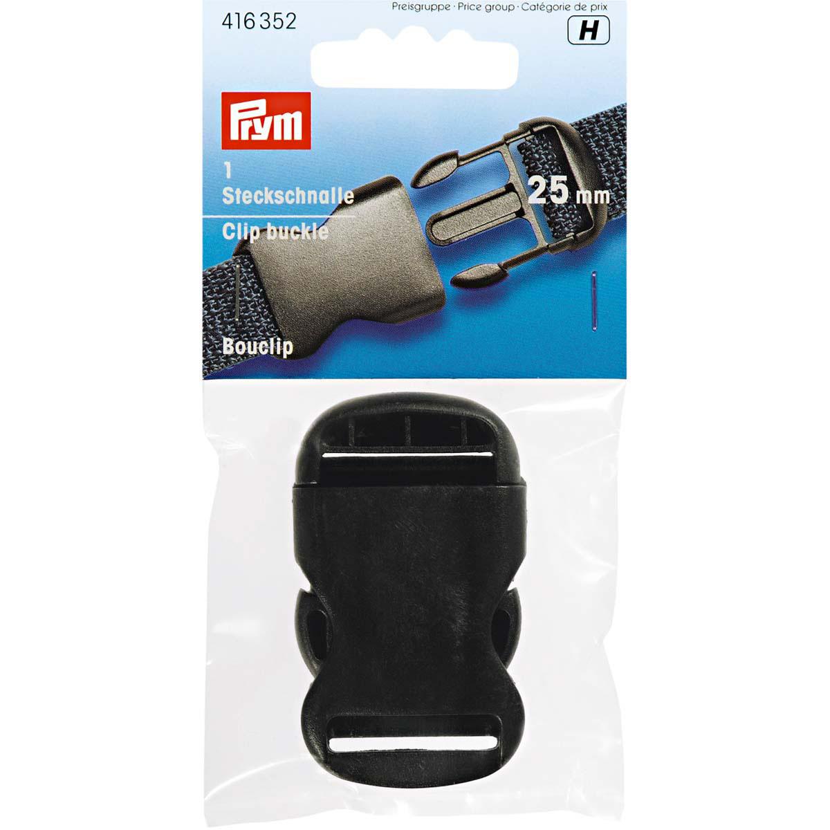 416352 Застегивающиеся пряжки, пластик, черный, 30 мм, Prym