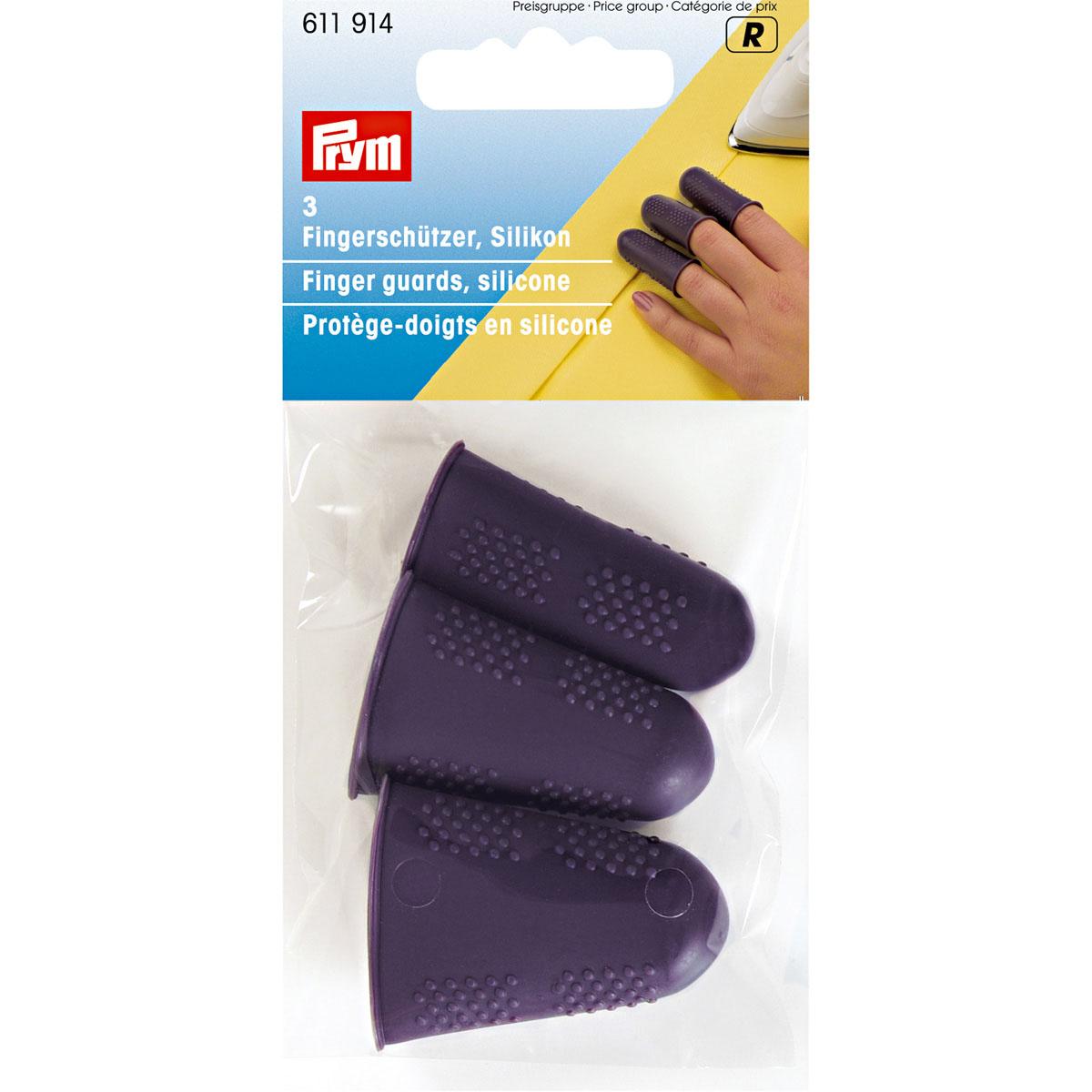 611914 Колпачки для защиты пальцев, силикон, упак./3 шт., Prym