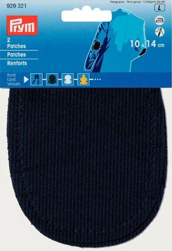929321 Заплатки из вельвета для приутюживания и/или пришивания 14*10см, цв. морской воды Prym