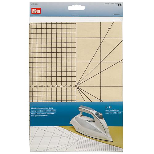611923 Чехол для гладильной доски с сантиметровой шкалой, размер L-XL, до 145*50 см, Prym