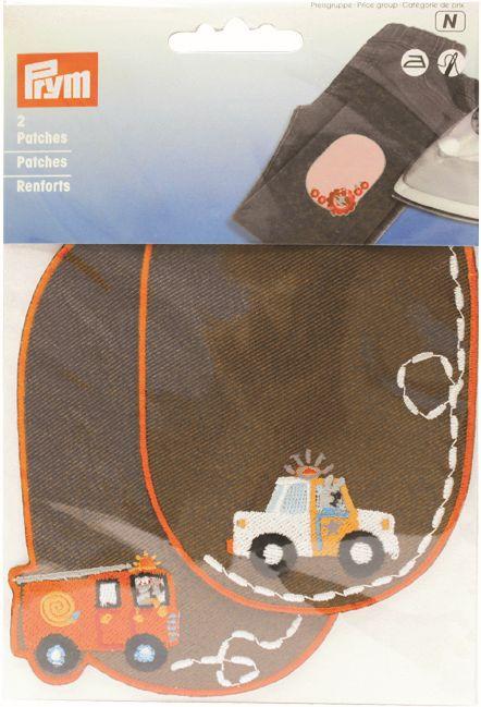 929150 Заплатки детские 'Пожарная / Полиция', коричневый цв. Prym