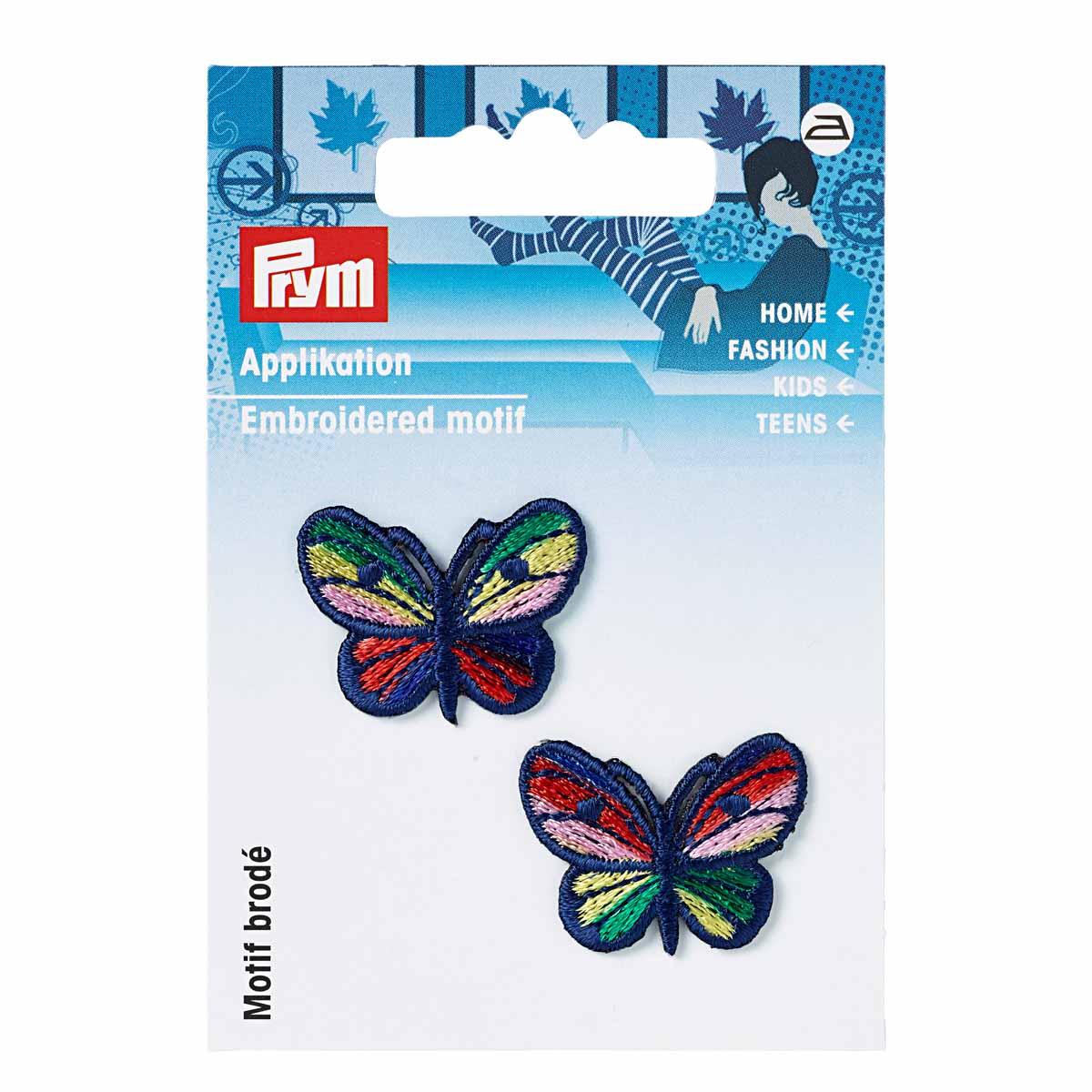 925221 Аппликация Синие бабочки, малая Prym