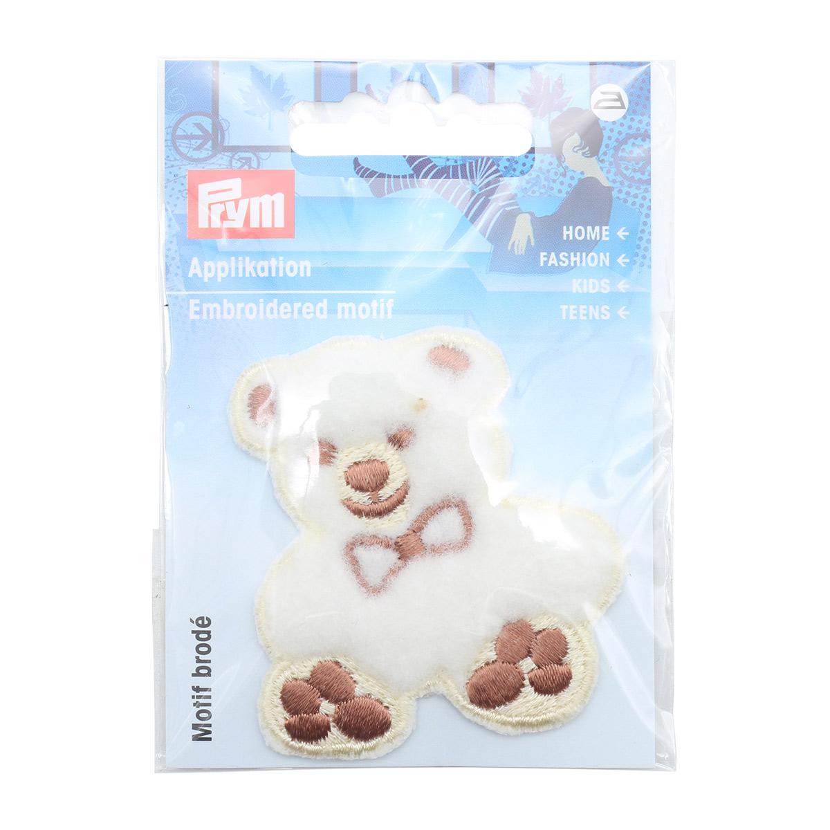 925262 Аппликация Плюшевый мишка, бежевый цв. Prym