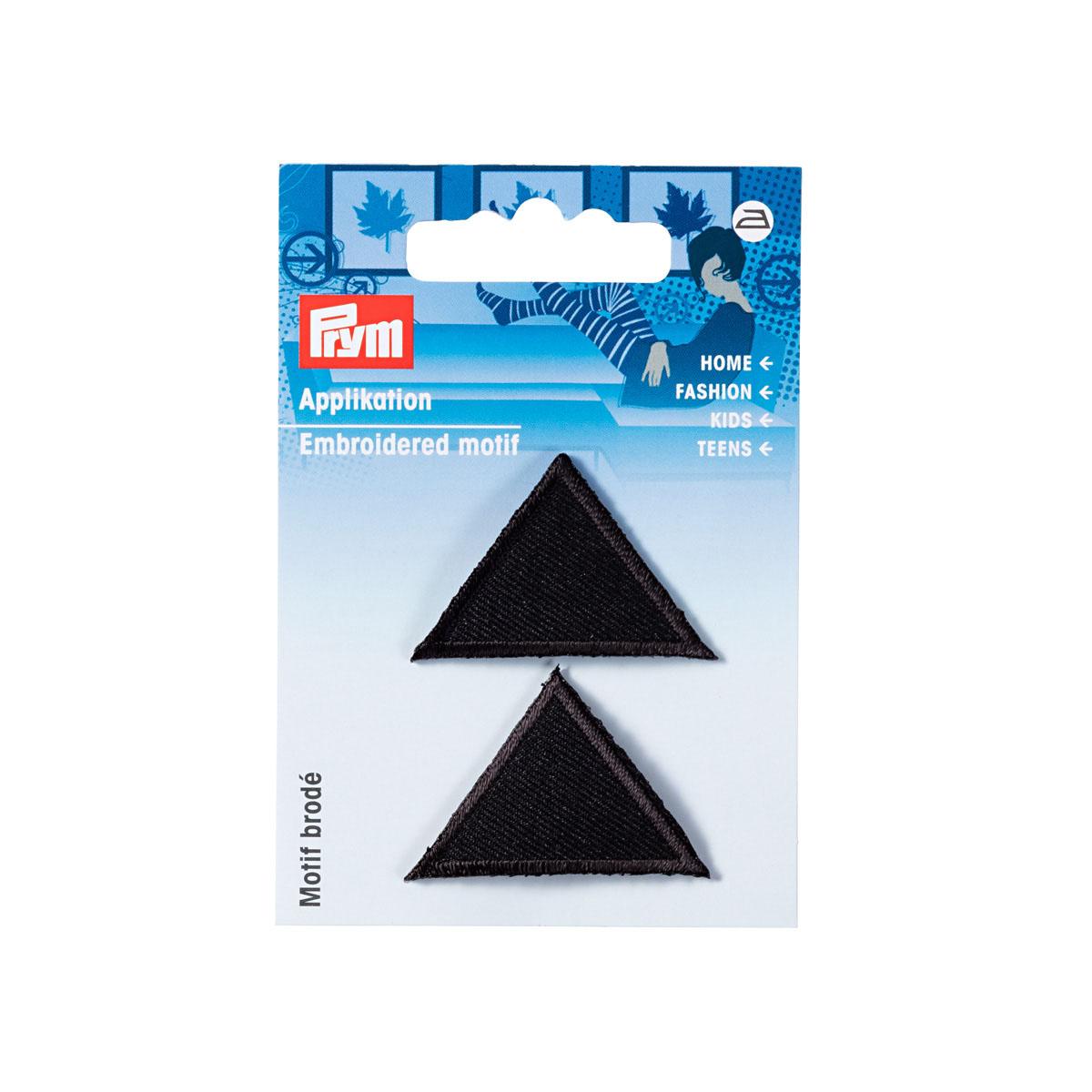 925275 Аппликация Треугольник, черный цв. Prym