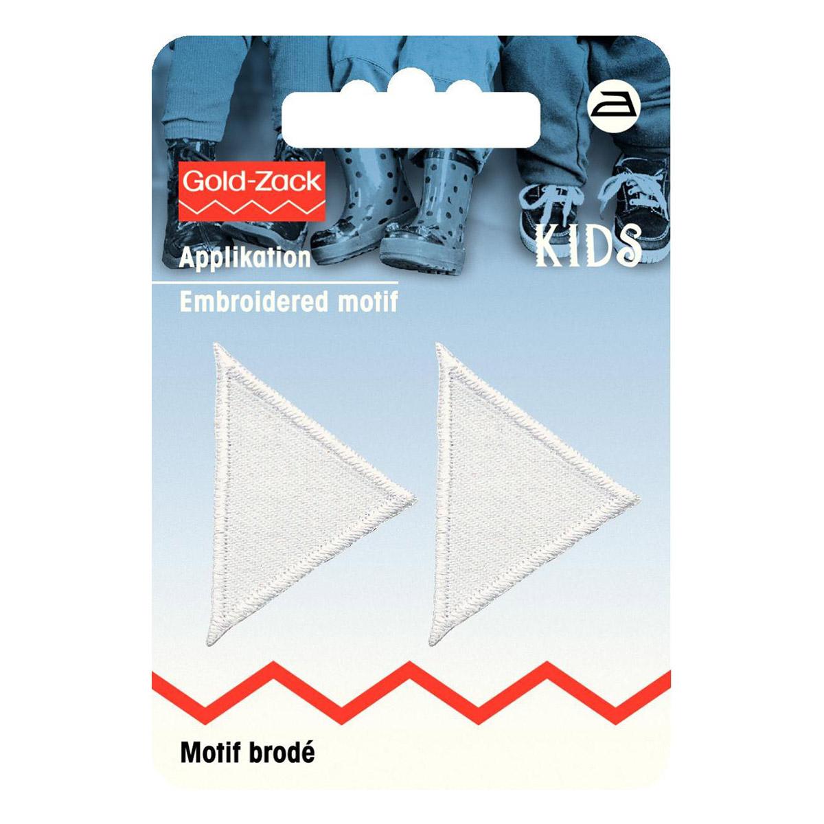 925277 Аппликация Треугольник, белый цв. Prym