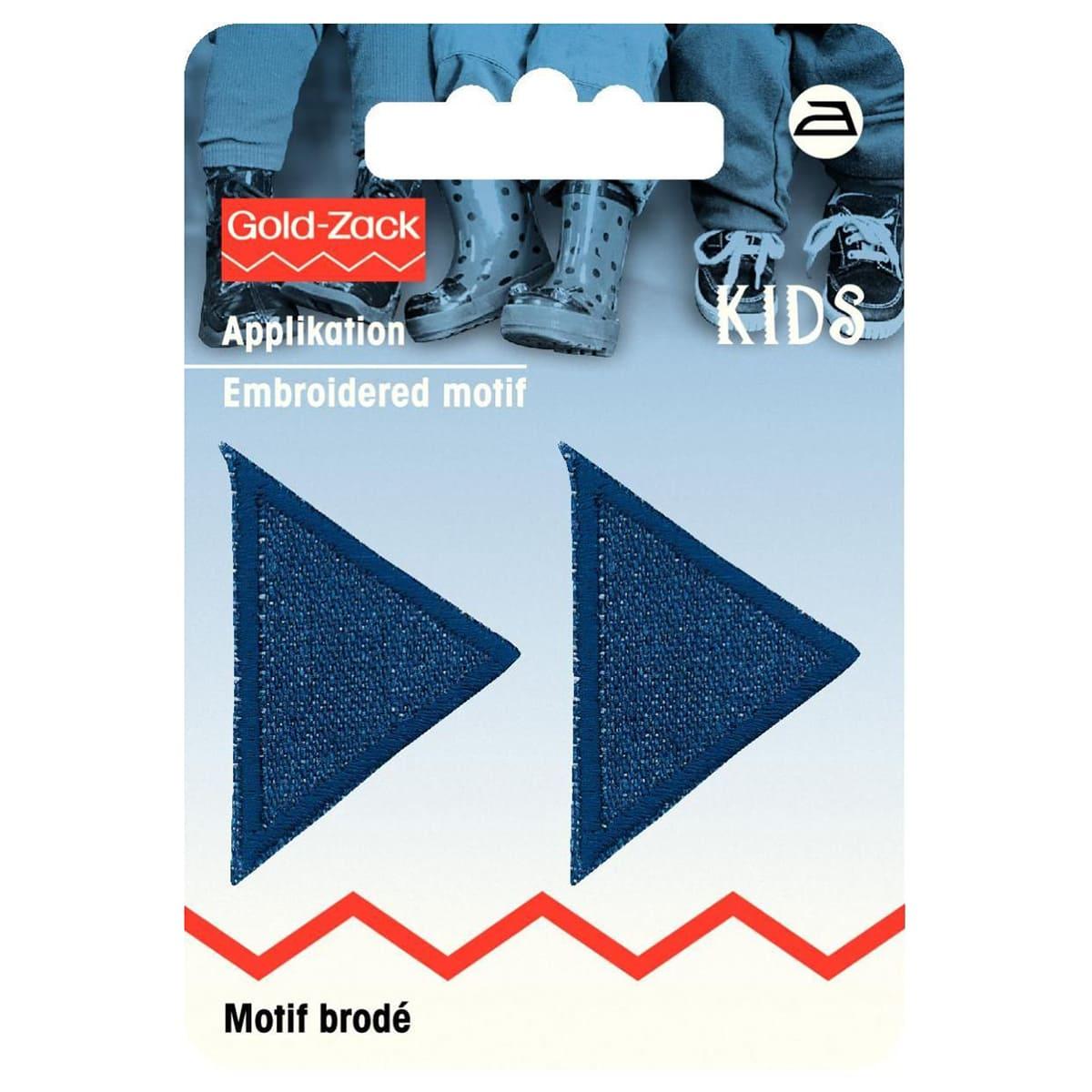 925282 Аппликация Треугольник, темно-синяя джинса Prym