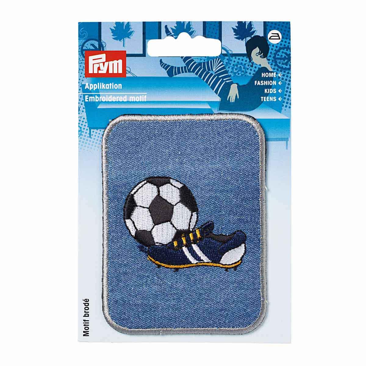 925345 Аппликация-заплатка Футбольный мяч, прямоугольная Prym
