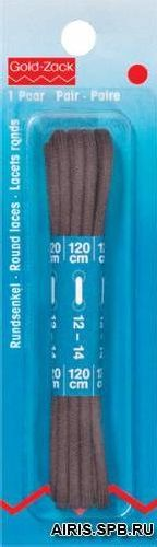 974841 Круглые шнурки, хлопок, коричневый, 0,3*120 см, упак./2 шт., Prym
