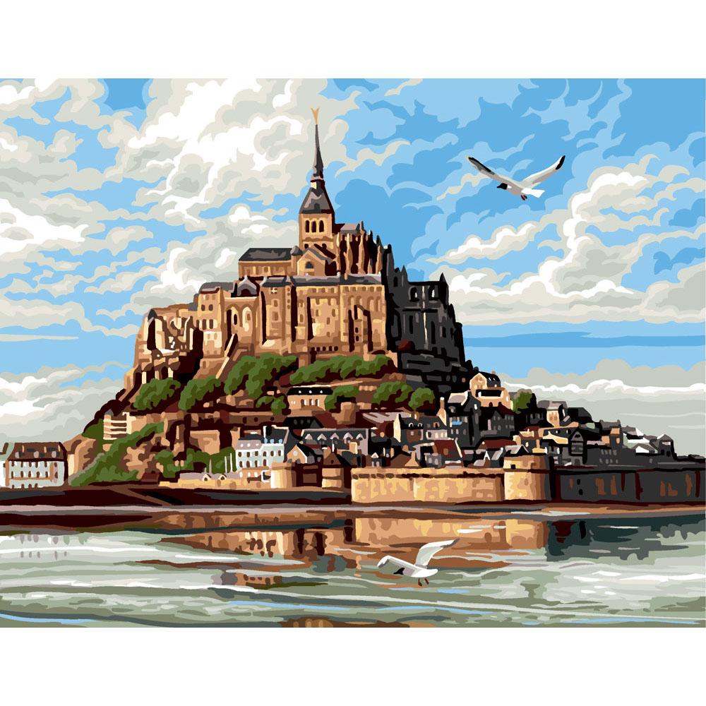 9880.0142.0442 Канва с рисунком Royal Paris 'Замок' 45*60 см