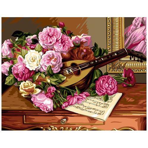 9880.0142.0507 Канва с рисунком Royal Paris 'Розы и ноты' 45*60 см