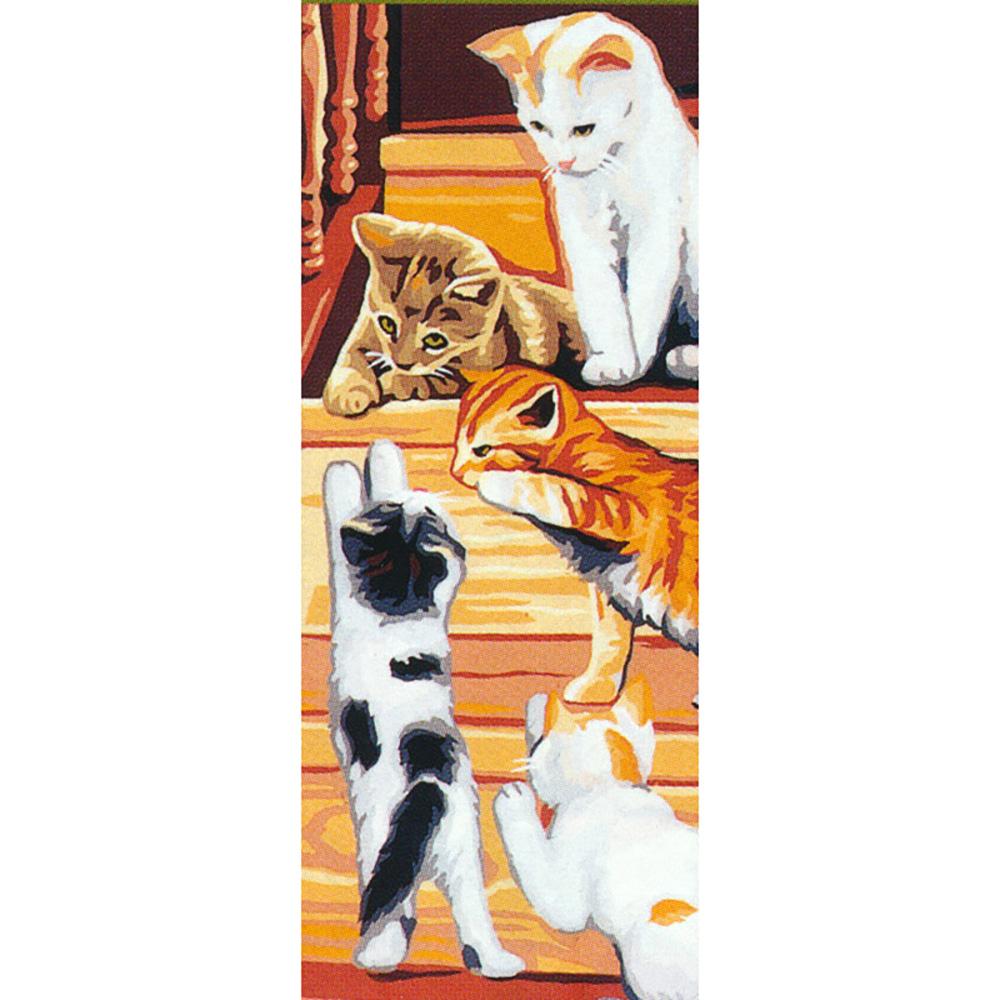 9880.0137.0010 Канва с рисунком Royal Paris 'Кошки' 25*60 см