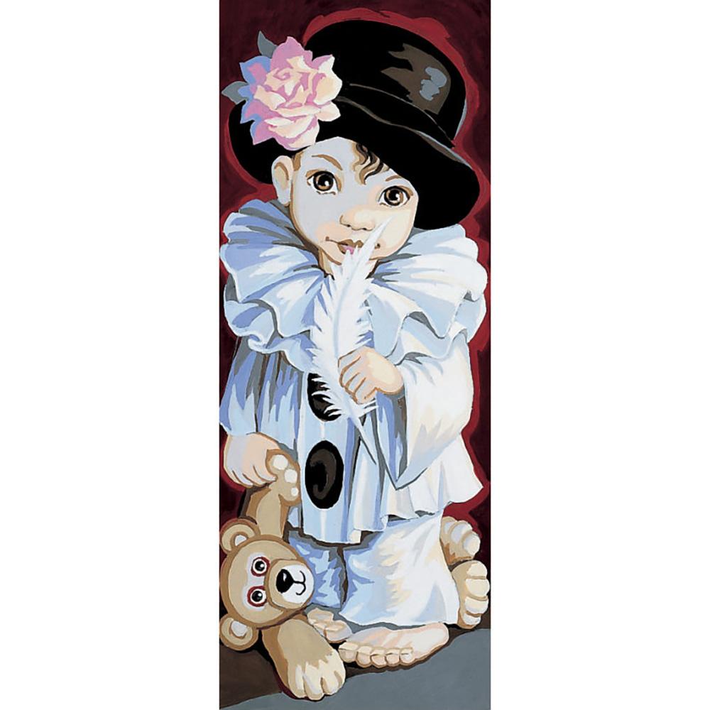 9880.0137.0078 Канва с рисунком Royal Paris 'Мальчик с мишкой' 45*60см