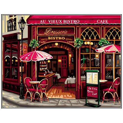 9880.0142.0452 Канва с рисунком Royal Paris 'Кафе' 45*60 см