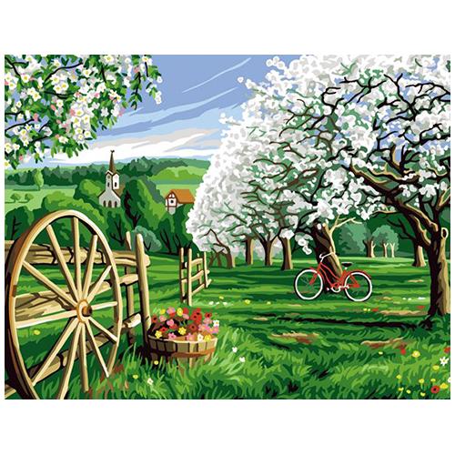 9880.0142.0490 Канва с рисунком Royal Paris 'Цветущий сад' 45*60 см